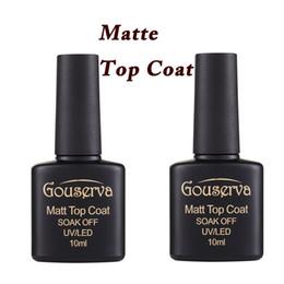 Wholesale Top Gel Polishes - Wholesale- 2016 New Arrival 10ml Matt Varnish Matte Top Coat Nail Gel Polish Nail Art Finish Top Coat Gel Lacquer Matt Top Gel