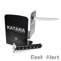 Wholesale Ninja Party - Wholesale-Free Shipping 1Piece Magnetic Katana Bookends With Hidden Brackets Ninja Optical Illusion Movies Geek Pop Culture Book