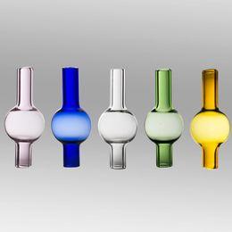 2019 tubo de 3 mm Dabber de tapa de carb de vidrio coloreado para 2 mm 3 mm 4 mm brazalete de cuarzo clavo sin hogar 10 mm 14 mm 18 mm dab vidrio tubo de agua bong rebajas tubo de 3 mm