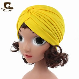 Wholesale White Summer Baby Hat - 2017 new fashion Baby Hat kids children turban headband head wrap hijab India Hats Kids Winter Beanie