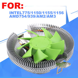 Wholesale Cpu Processors 775 - Wholesale- CPU cooler,CPU Fan,for Intel LGA 775 1155 1156, for AMD 754 939 AM2 AM2+ AM3 FM1,CPU radiator