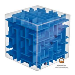Wholesale Balance Boards For Kids - Wholesale- Magic Square Puzzle Game Cube Educational Magic Intellect Ball Puzzle Game Magnetic Balls for Kids Adults Balance Training