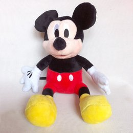 Wholesale Stuffed Minnie - minnie 3pc lot 30cm Mickey And Minnie Mouse s Soft Toy Stuffed Animals Plush stuffed Toy dolls free shipping