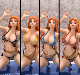 Wholesale Nami Sexy Pvc Figure Toy - New Arrival Hot Selling One Piece Nami Art Girl Sexy Big Boobs Anime Tokyo Japan Anime Sex Toys PVC Action Figure