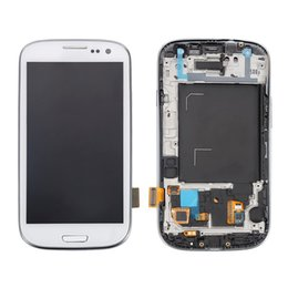 Wholesale Galaxy S3 Test Lcd - 100% New Tested Lcd Display For Samsung Galaxy S3 i9300 i9305 L710 i535 LCD Digitizer Assembly with Frame