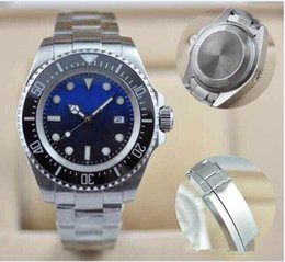Wholesale Sea Dweller 44mm - AAA Luxury Men's SEA-DWELLER Ceramic Bezel 44mm Stanless Steel Clasp 116660 Automatic mechanical High Quality Business Casual mens Watches