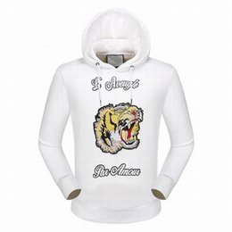 Wholesale Women Jumper Tiger Print - Discount L'Aveugle Par Amour Tiger Printed Men Jumper Hoodies with Hat Casual Jacket Women Hooded Sweatshirts Coats Blend White