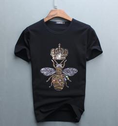 роскошный алмазный дизайн с коротким рукавом футболки мужчины забавный бренд хлопок топы и тройники от Поставщики titan tv