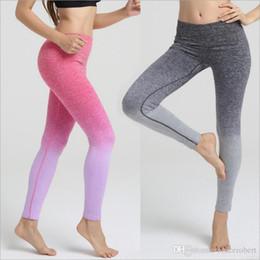 Wholesale Knit Waist - Leggins sport women fitness 2017 women clothes color plus size high waist workout gym sports leggings fitness