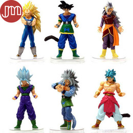 Wholesale Action Figure Anime Resin - New 6 PCS Janpan Dragon Ball Z SON GOKU Great Saiyaman DBZ Action Figure Toy Anime Kakarotto Vegeta Piccolo Gohan Super Saiyan