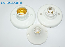 Wholesale Socket Light Convertor - E27 Lamp Bulb Holder Convertor 220V Light Base Adapter Lamp Socket White