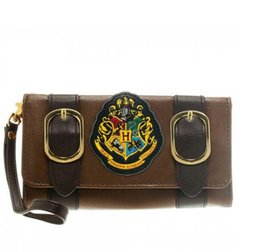Wholesale American Castles - 2017 new Harry Potter Hogwarts Castle Crest Envelope Satchel Fold Wallet Purse shoulder bag backpack for men women free shipping