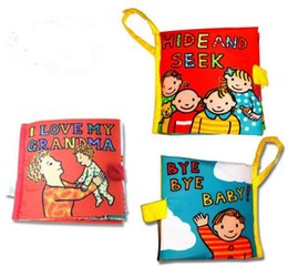 Wholesale Family Books - New cloth book Baby Activity Toys Cloth infant child Development Learning & Education Unfolding Family members Intelligence Developing Toy