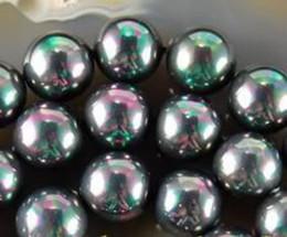 "Wholesale Shell Pearl Loose - 10mm Multicolor Black South Sea Shell Pearl Loose Beads Gemstones 15""AAA"