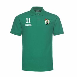 Wholesale Women S Polo - 2017 basketball CELTIC POLO 11 IRVING 0 TATUM 20 HAYHARD man's women kid polo shirt cotton Short Sleeve Casual Shirts Man's Solid Shirt