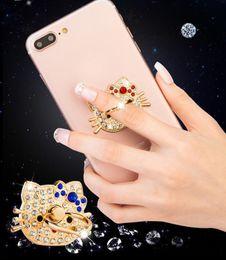 Wholesale Diamond Mobile Phone Stand - 360 Degree Cute Diamond Rhinestone bling universal Finger Ring Mobile Phone Smartphone Stand Holder For iphone sumsung