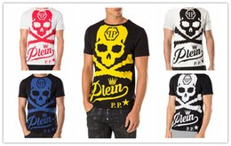 Wholesale Sleeve Flash - Christian religion Summer Men'S Fashion Brand PP Short Sleeve T Shirt Men Casual Hip hop High Quality Skulls Sports Camisetas T-Shirt qp4