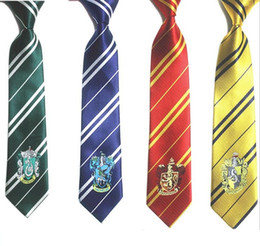 Wholesale 4 Color Fashion New Tie Clothing Accessories Borboleta Necktie College Style Tie Harry Potter Gryffindor Series Ties b914
