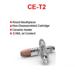 Wholesale Ego Cartridge - Wholesale CE-T2 510 Vaporizer clearomizer ceramic heating coil Wood Drips 0.5ml Vape cartridge 510 thread for preheat X8 ego-t evod battery