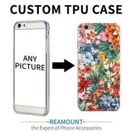 Wholesale blue flower clip - Art Printed Soft Silicon Case For Apple iPhone 5S 6 7 7plus SE Cute Fresh Flowers Pattern DIY Customize TPU Gel Cover Coque