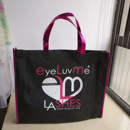 Wholesale Promotional Bags Logo - Wholesale- wholesale 500pcs lot custom reusable promotional non woven shopping bags custom eco tote print your logo for ads Free shipping