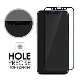 Wholesale Iphone Hard Screen Protector - For iphone8 iphone8 plus iphoneX Screen Protector Full Cover 3D tempered glass 3D Curved Edge 9H Hard Full Cover Protective Film with box