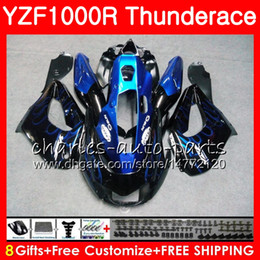 Wholesale Yzf Thunderace - Body For YAMAHA Thunderace YZF1000R 96 97 98 99 00 01 07 84HM1 YZF-1000R YZF 1000R 1996 1997 1998 1999 2000 2001 2007 Fairing Blue flames