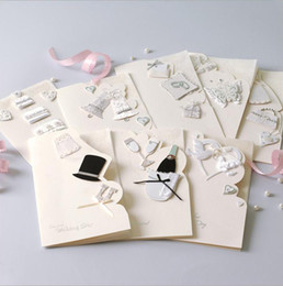 Wholesale Paper Folding House - wedding invitations cards wholesale elegent white invitaitons paper cards 8 styles for choose with envelope hiqh quality