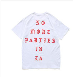 Wholesale New Mens Tee - Mens Print Sportwear white T Shirts SEASON 3 i feel like pablo Tee short Sleeve O-neck T-Shirt Kanye West Letter Black new york t-shirt
