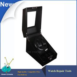 Wholesale Fiber Modes - Wholesale- 2+3 Black Glossy Suface Carbon fiber Inside Automatic Watch Winder, Multi-function 5 Modes Wooden automatic Watch Winder