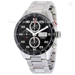 Wholesale Sapphire Round Gem - Luxury Watches High Quality Black Dial Stainless Steel Men's Watch CV2A1R.BA0799