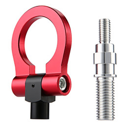 Wholesale Tow Hook For Bmw - Universal Auto Car Racing Rear Aluminum Alloy Tow Hook Trail Ring Towing Kit for BMW Honda 189316102