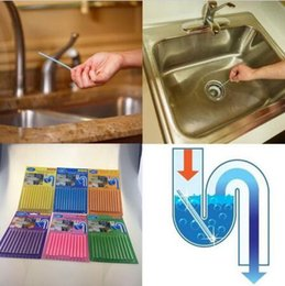 Wholesale 12pcs set Sani Sticks Sewage Decontamination To Deodorant The Kitchen Toilet Bathtub Drain Cleaner Sewer Cleaning Rod CCA6624 set