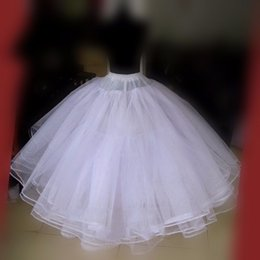Wholesale free ball gowns - Elastic Waist 6 Tiers Ball Gown Wedding Dress Petticoats White No Hoop Underskirts Bridal Crinolines Free Shipping 2017 Hot