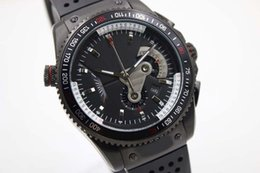 Wholesale Man Calibre 17 - Luxury Brand High Quality Tag Quartz Watch Men Calibre 17 Black Dial Rubber Band Original clasp Watch Morno