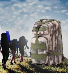 Wholesale Wholesale Military Backpacks - NEW High Quality 30L Hiking Camping Bag Military Tactical Trekking Rucksack Backpack Camouflage Molle Rucksacks Attack Backpacks 12 colors