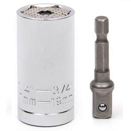 Wholesale Multi Function Drill - Tonsiki Universal Wrench Multi Function Ratchet Universal Socket 7-19mm Power Drill Adapter Car Hand Tools Repair Kit