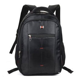 Wholesale High School Students - Hot Sell 2017New Backpack School Bag Computer Bag Waterproof Casual Travel Outdoor Men Woman Student High Capacity Nylon Black Unisex QQ2141