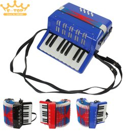 Wholesale Musical Instrument Accordion - wholesale Mini Educational Musical Instrument 17-Key 8 Bass Toy Accordion for Kids Children