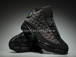 Wholesale Cheap Shoe Boxes For Sale - (With Box) Wholesale Cheap New Air Retro 13 OG Black Cat Basketball Shoes 3M Reflect All Black 13s jumpman Trainer Sneakers For Sale US 8-13