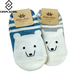 Wholesale Polar Bear Socks - Wholesale- 2 pairs lot New Arrival Brand Caramella Cute Animal Polar Bear Fashion Cartoon Cotton Women Socks Creative Novelty Harajuku Sock