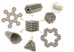 Wholesale Wholesale Magnetic Balls 5mm - HOTEST 216pcs 5mm Magic Cube Magnetic Balls Puzzle Cube with metal box Adult Relax de-stress Game Toys Birthday Present Gift Buck Balls
