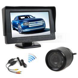 Wholesale Wireless Backup Camera Kits - Wireless Parking System Kit Waterproof Rear View Backup Car Camera + 4.3 inch LCD Display Car Monitor