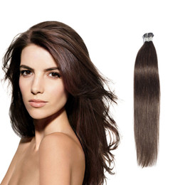 Wholesale Brazilian I Tip Hair - Fast shipping top quality I-tip Pre-bonded hair extensions straight Brazilian human hair pre-bonded hair extensions 50 gram