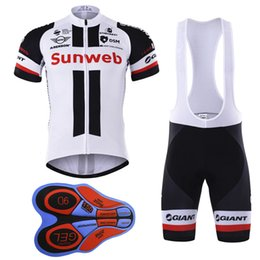 Wholesale Men Cycling Set - 2017 Sunweb New Cycling Jerseys bib shorts set Bicycle Breathable sport wear cycling clothes Bicycle Clothing Lycra summer MTB Bike