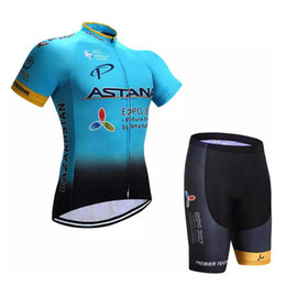 Wholesale Bicycle Wear Men - 2017 Recommend Pro Team Cycling Jerseys Summer Short Sleeve Bike Sport Wear Clothing Blue Bicycle Jersey Men Bikes Clothes Ropa Ciclismo