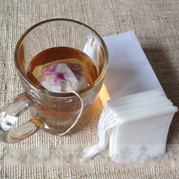 Wholesale Filter Bags - empty teabags food grade material made filter single drawstring tea bags disposable tea infuser 100pcs pack wholesale cheap price 5 sizes