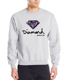 hip hop clothing diamond hoodie Promo Codes - Wholesale-Diamond supply co men hoodies 2016 new autumn winter fashion cool sweatshirt hip hop style slim fleece brand clothing