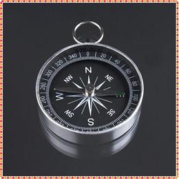 Argentina Al por mayor-2pcs 44 mm de diámetro Mini aluminio que acampa brújula senderismo excursionista navegación nuevo envío gratis supplier navigation wholesale Suministro
