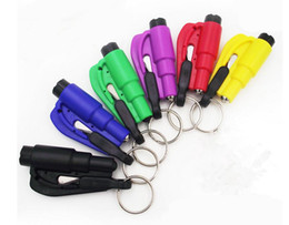 Wholesale Rescue Strap - Mini 3 in 1 Seatbelt Cutter Emergency Hammer Glass Breaker Key Chain Smart AUTO rescue tool Safety Escape Lift Save SOS Whistle